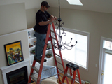 Chandelier install Reading, MA